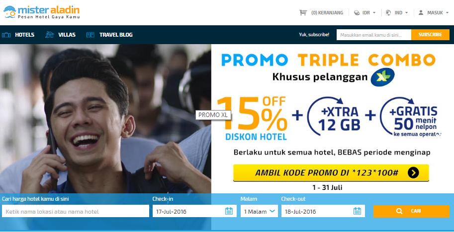Cara harga promo hotel online termudah hanya di misteraladin.com
