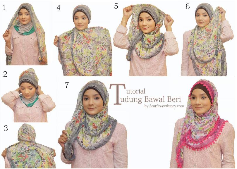 tutorial-mengenakan-model-hijab-masa-kini
