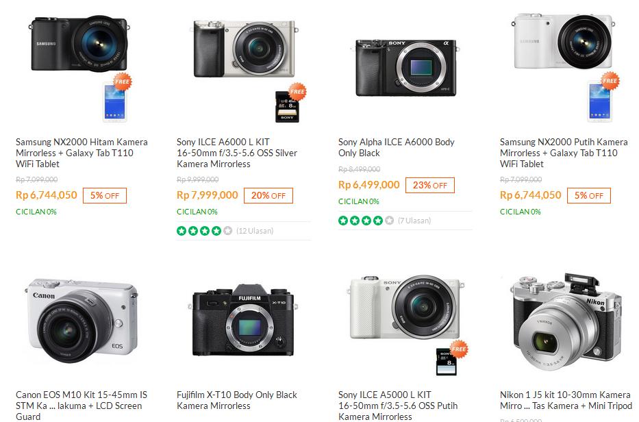 Harga Terbaru dan Spesifikasi Kamera Mirrorless Fuji
